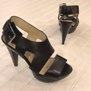 Michael Kors Black Strappy Heels - sz 6.5